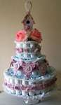 Diaper Cake and Banner