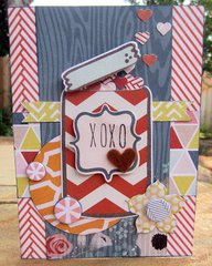 XOXO - AC Cut and Paste card