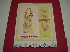 happy birthday dress card