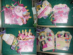 birthday no4 chipboard album photo1