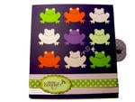 Waterfall card frogs
