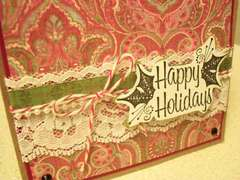 CLose-up Happy Holidays card
