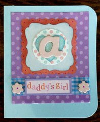 CARD FOR BABY GIRL ALANA