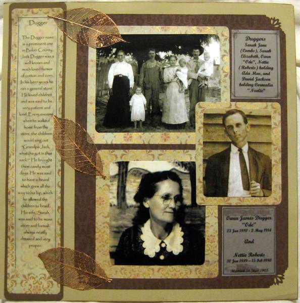 heritage photo album ideas - Layout Heritage Scrapbook p3