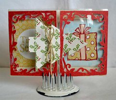 Christmas Tree Send it Clear Card *Clear Scraps*