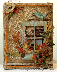 Autumn Burlap Panel by TH Media Team Member Anna-Karin