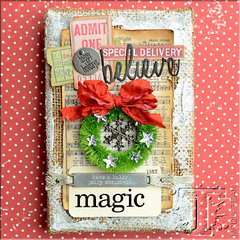 Christmas Magic Burlap Panel by TH Media Team Member: Vicki Boutin