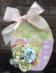 Paper Mache Easter Egg by Debbie Sherman