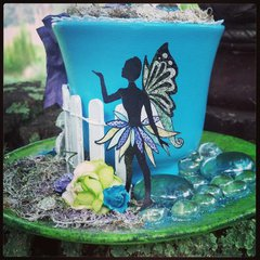 Fairy Tea Party Altered Cup for Melanie