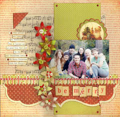 Be Merry (Sketches 2 Scrapbook)