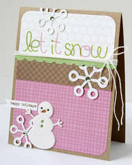 Let it snow card **KI Memories**