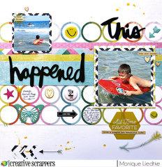 This happened - Heidi Swapp & Creative Scrappers