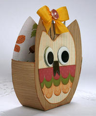 Owl gift box - My Little Shoebox/Epiphany Crafts