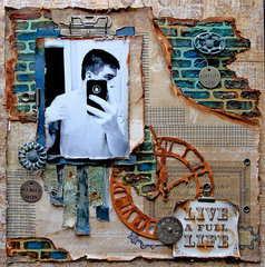 A Full Life *Scraps Of Darkness* March Kit~Michelle's Mechanical Madness