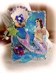 ATC~A Mermaid's Tale **SCRAPS OF DARKNESS** ATC Swap