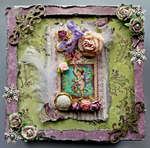 Altered Christmas Box Top **SCRAPS OF DARKNESS** **Berry Bleu Pages and Tags**
