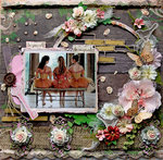 Be Inspired **SCRAPS OF ELEGANCE** July Kit-Home Sweet Home