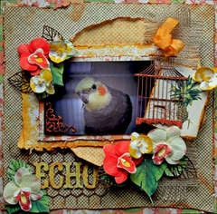 Echo *Twisted Sketch #136 Twist Fabric **SCRAPS OF DARKNESS**