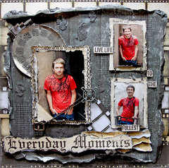 EveryDay Moments *Scraps Of Darkness* February Kit~Touch Of Grey