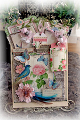 Hello Friend Tag Pocket Album *Scraps Of Elegance* March Kit~Floral Fantasy