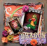 Grumpy Lil' Dragon **SCRAPS OF DARKNESS** October Kit-All Hallows' Eve