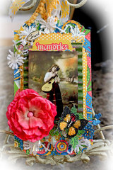 Gypsy Memories Oversize Tag *Scraps Of Darkness* July Kit~Gypsy Summer