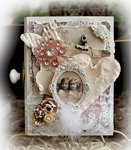 Heavenly Whispers Altered Wooden Book Box *Inkido*