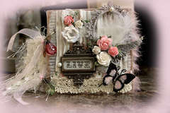 Live Acrylic Mini Album Front **SCRAPS OF ELEGANCE** August Kit-Summer Haven