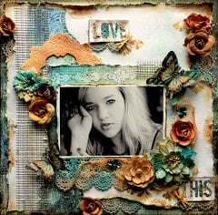 Love This *Scraps Of Darkness* November Kit~Water Lilies