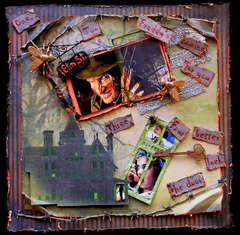 Nightmare On Elm Street **SCRAPS OF DARKNESS** October Kit Halloween Movie Contest
