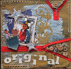 Original-Twisted Sketches #120 Twist Button **SCRAPS OF DARKNESS**