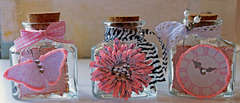 Altered Shabby Chic Jars **The Rubber Cafe**