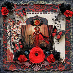 Red Hot  **SCRAPS OF DARKNESS** April Kit- Sakurabana