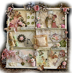 Beautiful Memories Altered Printer Tray **SCRAPMATTS** **SCRAPS OF ELEGANCE**