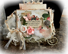 Shabby Girls Mini Album *Tresors De Luxe Etsy Shop*