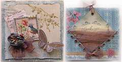 Song Bird Card Front & Back View *The Rubber Cafe* **SCRAPS OF ELEGANCE**