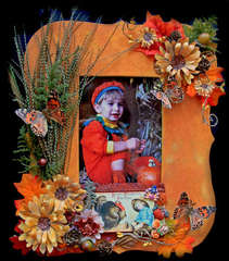 Fall Frame **Berry Bleu Pages & Tags**