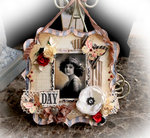 The Best Day Hanging Memory Pocket *Scraps Of Elegance* February Kit~Love Always