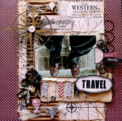 Well Traveled **SCRAPS OF DARKNESS** Round Robin May Kit-Destinations