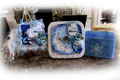 Wild About Winter Mini Album & Storage Box **SCRAPS OF ELEGANCE** December Kit-Winter Wishes