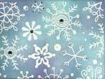 Blue snowfall card