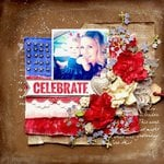 Celebrate 4th Mixed Media Layout
