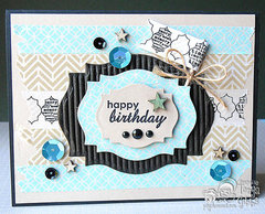 Masculine Washi Tape Card