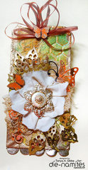 Mixed Media Tag -  Midas Touch