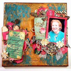 Grandmother Mixed media Canvas