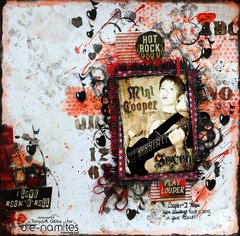 Rock Star Mixed Media Layout