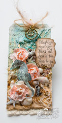 Sea Themed Mixed Media Tag
