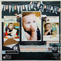 First Birthday Layout