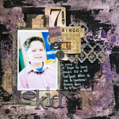 Terrific Kid - Mixed Media Layout