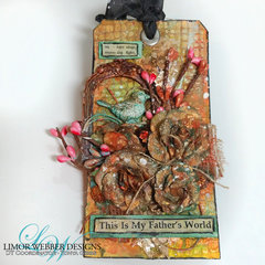 My Father's World - Mixed Media Tag